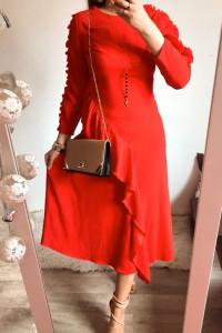 Sukienka Damska czerwona długa S