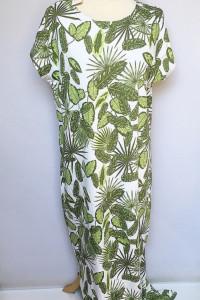 Sukienka NOWA S 36 Długa Maxi Long Tom&Rose Liście Palma Monstery