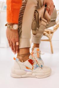 Bezowe sneakersy holograficzne 36...
