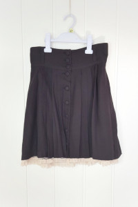 Czarna mini spódnica H&M 38 M plisowana krótka retro vintage ko...