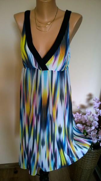 Suknie i sukienki sukienka tęczowa 42