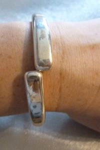 bransoletka sztywna 2 połówki srebro