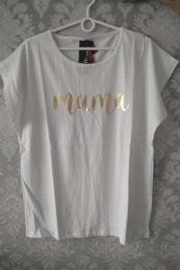 Koszulka złoty napis MAMA...