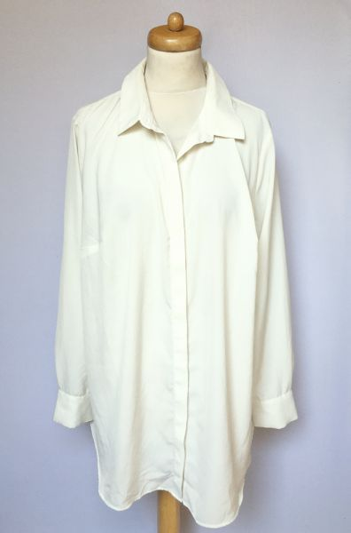 Koszule Koszula Biała Elegancka H&M Mama XL 42 Ciążowa Ciąża