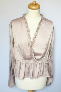 Bluzka Kopertowa H&M Brudny Róż 46 3XL Różowa Elegancka...