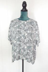 Bluzka H&M 44 2XL XXL top koszulka lekka wiskoza krepa asymetry...
