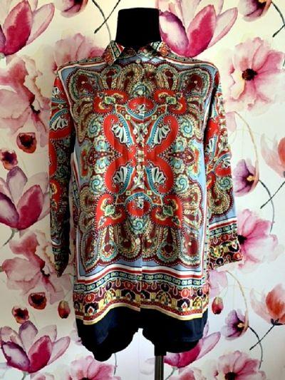 Koszule zara koszula modny wzór ornament jak nowa hit 36