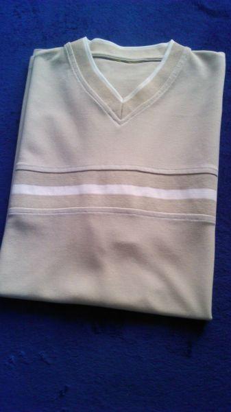 Koszulki i t-shirty Tshirt męski dzianinowy krótki rękaw XXL w bardzo dobrym stanie
