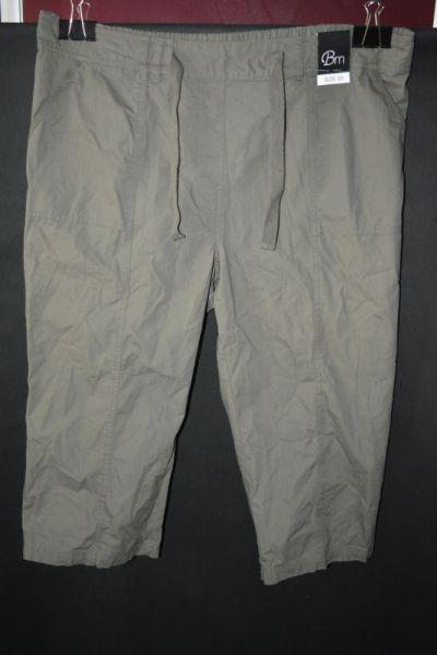 Spodenki f Spodnie rybaczki khaki BM 48