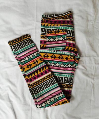 Spodnie Rurki w azteckie wzory