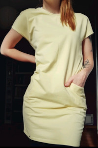 Żółta bawełniana sukienka