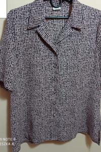 Koszula XXL mgiełka vintage elegancka wizytowa wzorek