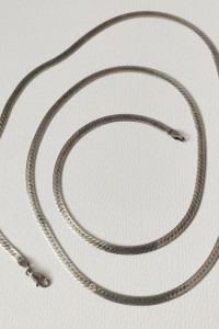 Naszyjnik długa taśma srebro 925
