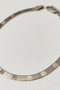 Bransoletka taśma srebro 925