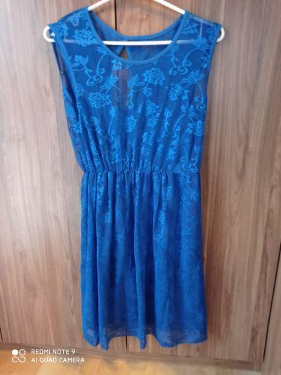Suknie i sukienki Letnia chaberkowa sukienka z koronki