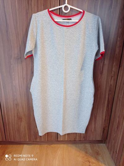 Suknie i sukienki Szara bawełniana sukienka