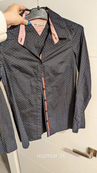 Koszule Koszula w kropki granatowa