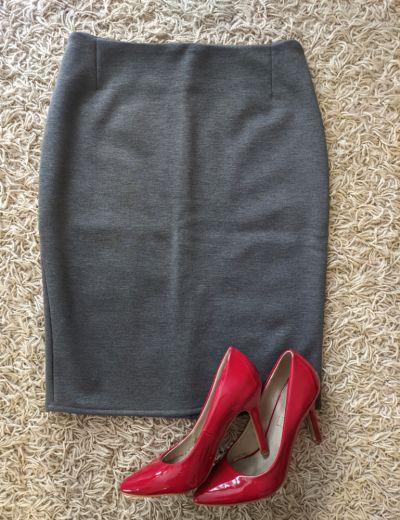 Spódnice szara nowa spódnica ołówkowa