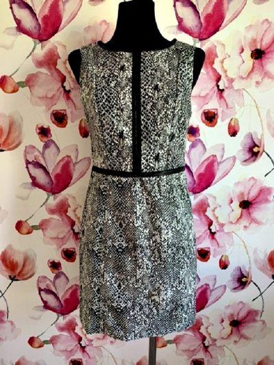 Suknie i sukienki lindex sukienka ołówkowa modny wzór węża skóra eko skóra hit 38