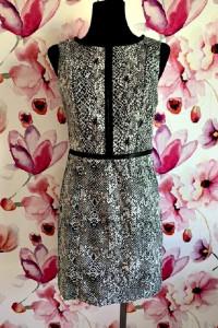 lindex sukienka ołówkowa modny wzór węża skóra eko skóra hit 38...