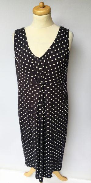 Suknie i sukienki Sukienka Granatowa H&M Mama L 40 Groszki Ciążowa Ciąża