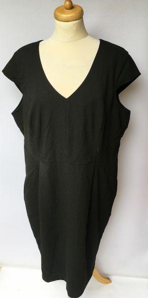 Suknie i sukienki Sukienka Czarna H&M Plus Elegancka 52 6XL Wizytowa