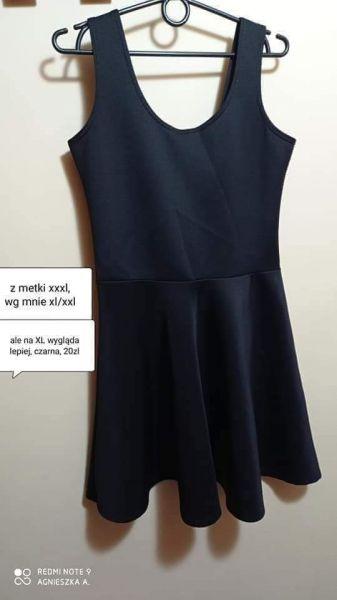 Suknie i sukienki Sukienka xl XXL mała czarna elegancka wizytowa
