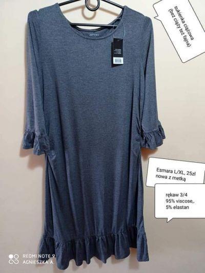 Suknie i sukienki Sukienka L XL ciążowa rękaw 34viscose bez ciąży też świetnie wygląda