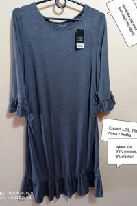 Sukienka L XL ciążowa rękaw 34viscose bez ciąży też świetnie wy...