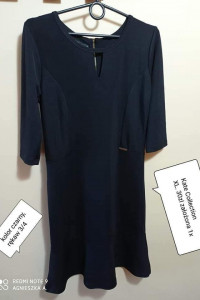 Sukienka xl elegancka wizytowa czarna dekolt łezka z tyłu zip...