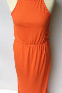 Sukienka Pomarańczowa Bik Bok Long Maxi M 38 Długa...