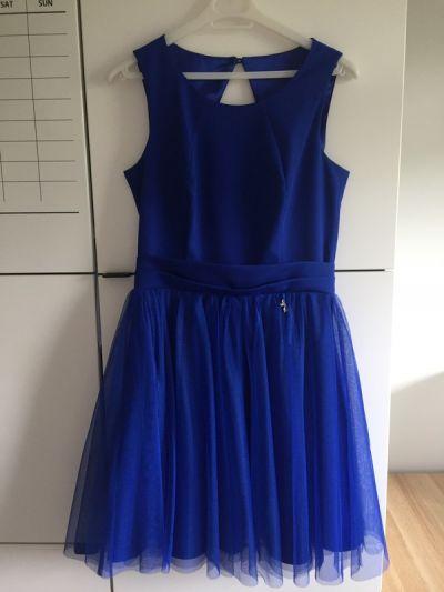 Suknie i sukienki Wizytowa sukienka Chabrowa sukienka Sukienka na bal