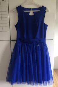 Wizytowa sukienka Chabrowa sukienka Sukienka na bal