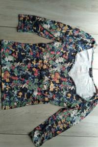 Bawełniana bluzka w kwiaty Bershka M...