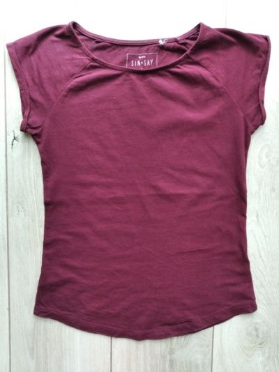 Koszulki Bordowy tshirt Sinsay S