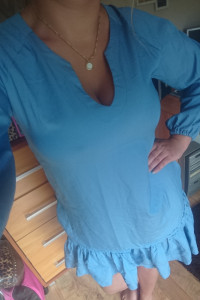 Baby blue nowa falbanka