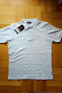 Koszulka polo biała nowa polówka M L XL XXL Tomy Parker