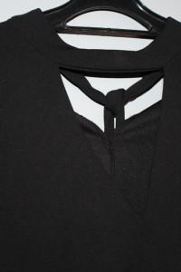 ZARA nowa czarna bluzka elegancka z wiązaniem
