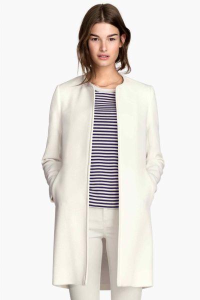Odzież wierzchnia Nowy płaszcz H&M 40 L biały biel narzutka kurtka płaszczyk na wiosnę lato prosty