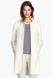 Nowy płaszcz H&M 40 L biały biel narzutka kurtka płaszczyk na w...