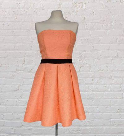 Suknie i sukienki Okolicznościowa morelowa sukienka