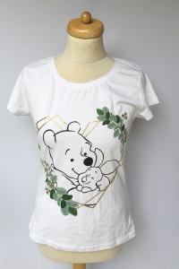 Bluzka NOWA Biała Koszulka Kubuś Puchatek Disney S 36...