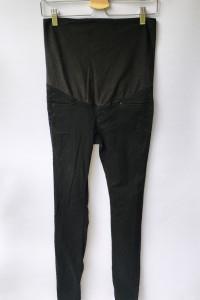 Spodnie H&M Mama Granatowa S 36 Rurki Ciążowe Ciąża...