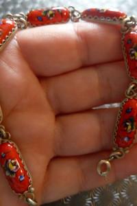 bransoletka z ceramiką ręcznie malowana...