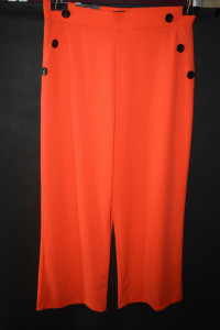 3 Elastyczne spodnie proste nogawki Wide leg 46...