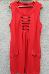 Atmosphere Czerwona sukienka w militarnym stylu...