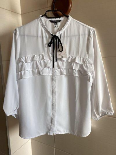 Koszule Biała elegancka koszula bluzka falbanki nowa z metką top secret S 36