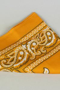 Pomarańczowa bandana żółta orange lata 90...