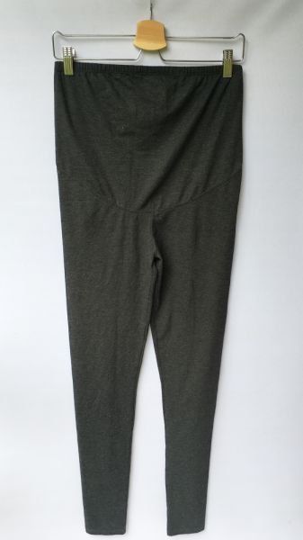 Legginsy Legginsy Szare H&M Mama M 38 Ciążowe Grafitowe Spodnie