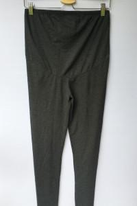 Legginsy Szare H&M Mama M 38 Ciążowe Grafitowe Spodnie...